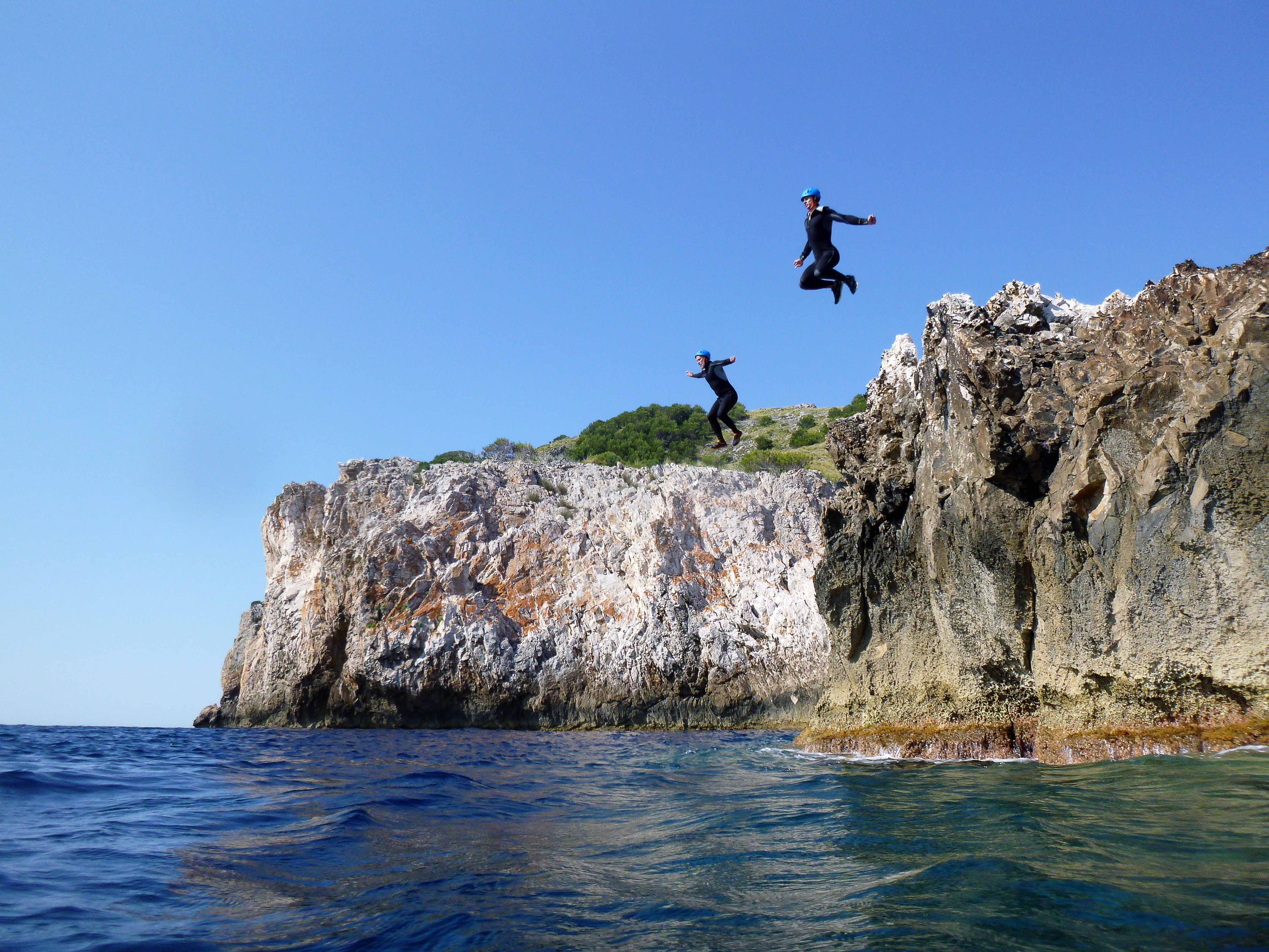 Cliff Jumping in Mallorca, Spain.